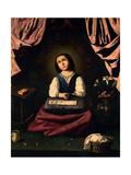 The Virgin As a Child In Ecstasy, 1630, Spanish Baroque Giclee Print by Francisco de Zurbaran