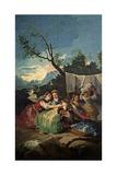 The Washerwomen, 1777-1780, Spanish School Giclee Print by Francisco De Goya