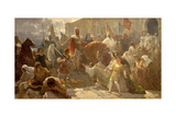 James I the Conqueror In Medina Mayurka Giclee Print by Ricard Ankermann
