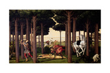 The Story of Nastagio Degli Onesti, Part Two, 1483, Italian Renaissance Giclee Print by Sandro Botticelli