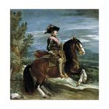 Philip Iv On Horseback, 1634-1635, Spanish School Gicléedruk van Diego Velázquez