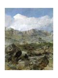 "Large Landscape ""Aragon"" Ca. 1900, Spanish School Giclee Print by Francisco Domingo Marques"