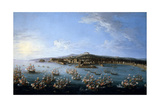Carlos Iii Leaving the Port of Naples, As Seen From the Sea', 1759, Italian School Giclée-tryk af Antonio Joli