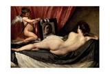 The Rokeby Venus: the Toilet of Venus, 1642 Gicléedruk van Diego Velázquez