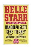 "Belle Starr, the Bandit Queen, 1941, ""Belle Starr"" Directed by Irving Cummings Giclee Print"