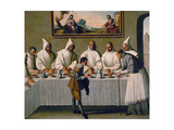 Saint Hugo of Grenoble In the Carthusian Refectory, Ca. 1655 Giclee Print by Francisco de Zurbaran