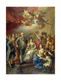 Carlos Iv of Spain And His Family, 1802, Spanish School Giclee Print by Vicente Lopez portaña