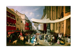 Procession of Corpus Christi In Sevilla, 1857 Giclee Print by Manuel Cabral bejarano