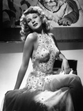 "Rita Hayworth. ""Tuesday's Orchids"" 1942, ""You Were Never Lovelier"" Directed by William A. Seiter Photographic Print"
