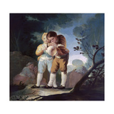 Children Inflating a Bladder, 1778, Spanish School Giclee Print by Francisco De Goya
