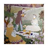 Picnicking, 1905-1906 Giclee Print by Gaspar Homar i mezquida