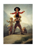 "Chicken Fights ""Horse And Rider"" 1791-1792, Spanish School Giclee Print by Francisco De Goya"