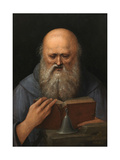 Gisaint Anthony the Abbot Meditating, Ca. 1510, Italian School Giclee Print by Giovanni Agostino Da lodi