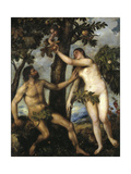 Adam And Eve, Ca. 1550, Italian School Giclee Print