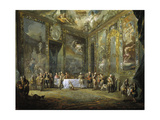 Charles Iii, Dining At Court', Ca. 1775, Spanish School Giclee Print by Luis Paret y Alcazar