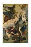 La Prosperidad O La Virtud Ahuyentando Los Males, 16th Century-17th Century, Italian School Giclée-tryk af Domenico Tintoretto