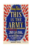 This Is the Army, 1943, Directed by Michael Curtiz Giclee Print