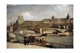 """ Pont Du Carrousel With Louvre"" 1886. Museo Carlsberg Glyptotek. Copenhague. Dinamarca Giclee Print by Vincent van Gogh"