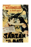 Tarzan And His Mate, 1934, Directed by Cedric Gibbons Giclee Print