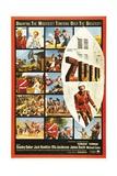 "The Battle of Rorke's Drift, 1964, ""Zulu"" Directed by Cy Endfield Giclée-tryk"