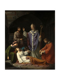 The Burial of Saint Cecilia In the Catacombs of Rome, 1852, Spanish School Giclee Print by Luis De madrazo