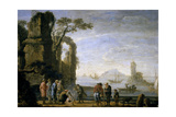 A Dock, 17th Century, Flemish School Giclee Print by Jan De momper