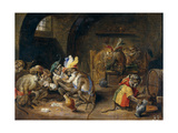 Monos En Una Bodega, 17th Century, Flemish School Giclee Print by David Teniers the Younger