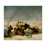 The Snowstorm Or Winter, 1786, Spanish School Giclee Print by Francisco De Goya