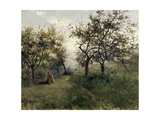 "Apple Tree ""Normandy"" Ca. 1877, Spanish School Giclee Print by Carlos De haes"