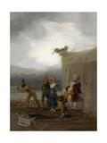 Strolling Players, 1793-1794, Spanish School Giclee Print by Francisco De Goya