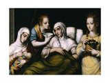 The Birth of the Virgin, 1560-1570, Spanish School Giclee Print by Luis De morales