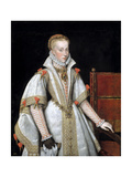 Queen Ana De Austria, Forth Wife of Felipe Ii, Ca. 1616, Spanish School Giclee Print by Bartolome Gonzalez