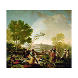 Picnic On the Banks of the Manzanares, 1776, Spanish School Giclee Print by Francisco De Goya