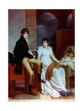 Count Moritz Christian Fries And Countess Fries And Their Child, 1804 Giclee Print by Francois Gerard