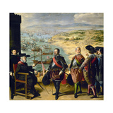 Defense of Cadiz Against the English, 1634, Spanish School Giclee Print by Francisco de Zurbaran