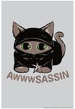 Awwsassin Kitten Ninja Snorg Tees Poster Poster