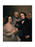 The Wedding, 1830 - Spanish Romanticism Giclee Print by Jose Gutierrez De La Vega