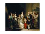 Charles Iv's Family, 1800, Spanish School Giclee Print by Francisco De Goya