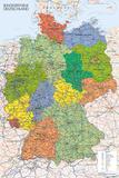 Landkarte von Deutschland Kunstdruck