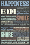 Happiness Quotes Motivational Poster Posters