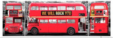 London Bus Triptych Travel Poster Photo