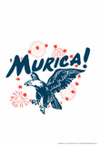 Murica! Eagle Snorg Tees Poster Print