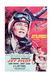 "Howard Hughes ""Jet Pilot"" with John Wane and Janet Leigh Giclee Print"