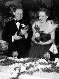 "11th Annual Academy Awards, 1938. Spencer Tracy ""Boys Town"" with Bette Davies ""Jezabel"" Photographic Print"