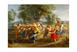 Peasant Dance, 1630-1635 Reproduction procédé giclée par Peter Paul Rubens