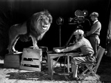 Film History: M. G. M.. Shooting of the Logo for the Metro Goldwyn Mayer Photographic Print