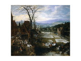 Flemish Market And Washing Place, Ca. 1620, Flemish School Giclee Print by Jan Brueghel the Elder
