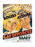 "Ginger Rogers and Fred Astaire in ""The Gay Divorce"" Giclee Print"