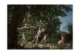 The Abundance, 17th Century, Flemish School Giclee Print by Jan Brueghel the Younger