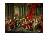 The Family of Philip V of Spain, 1743 Giclee Print by Louis-Michel Van loo